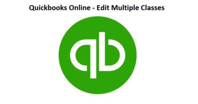 Quickbooks Online - Edit Multiple Classes Simultaneously