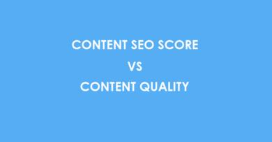 Content SEO Score VS Content Quality