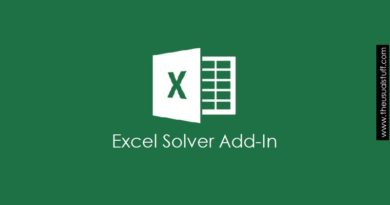 excel Solver Add In
