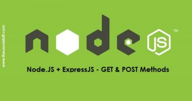 Node.JS ExpressJS - GET and POST Methods