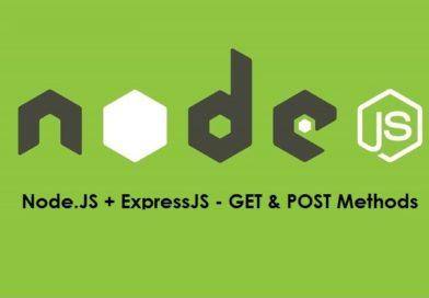 Node.JS Express – GET and POST Methods