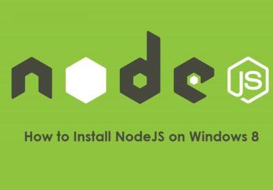 How to Install NodeJS on Windows 8 (64-bit 32-bit)