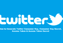 Generate Twitter Consumer Key and Access Token