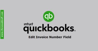 Edit Quickbooks Online Invoice Number