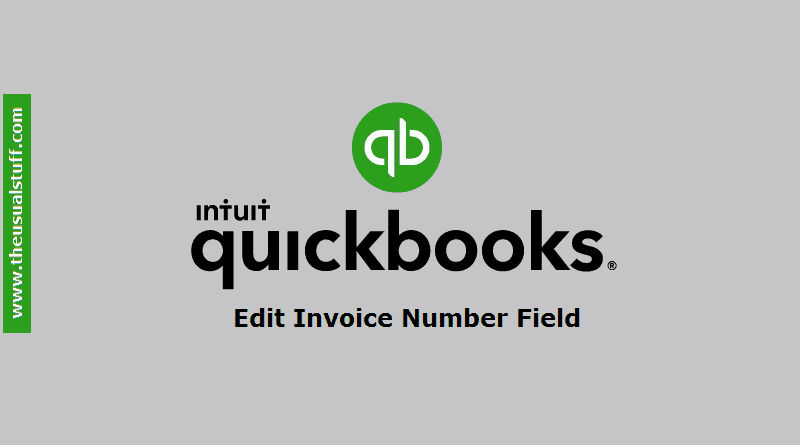 Edit Quickbooks Online Invoice Number