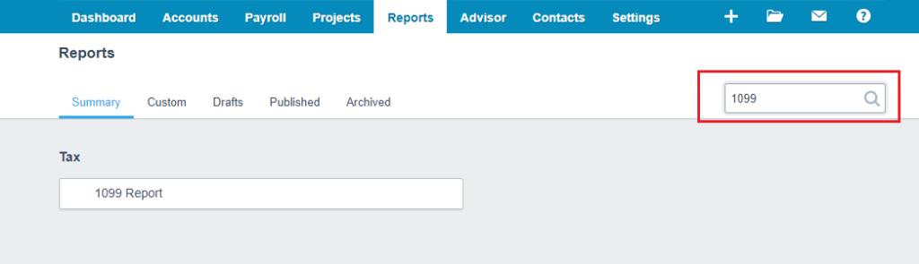 Xero Report Tax Search Form 1099