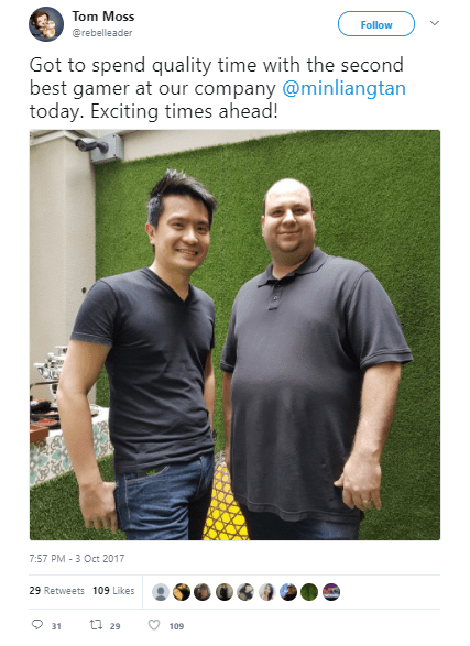 Razer CEO - Tim Lian With Razer Smartphone in Jeans Pocket