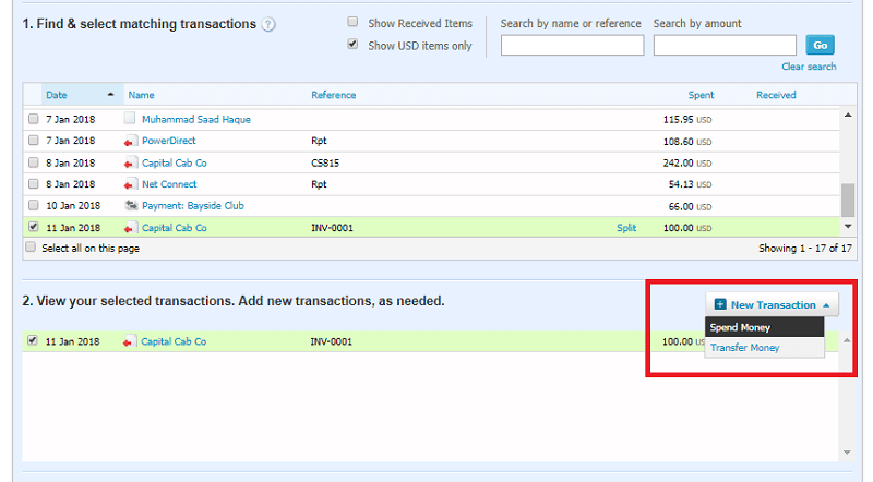 Xero Overpayment - New Transaction - Spend Money