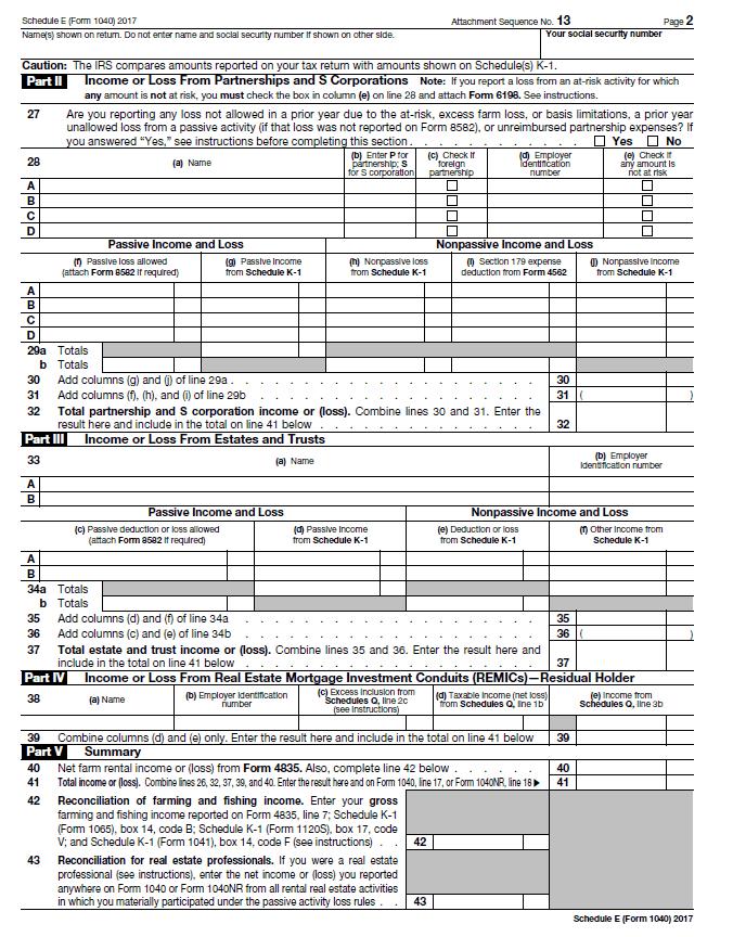 Schedule E - Page 2