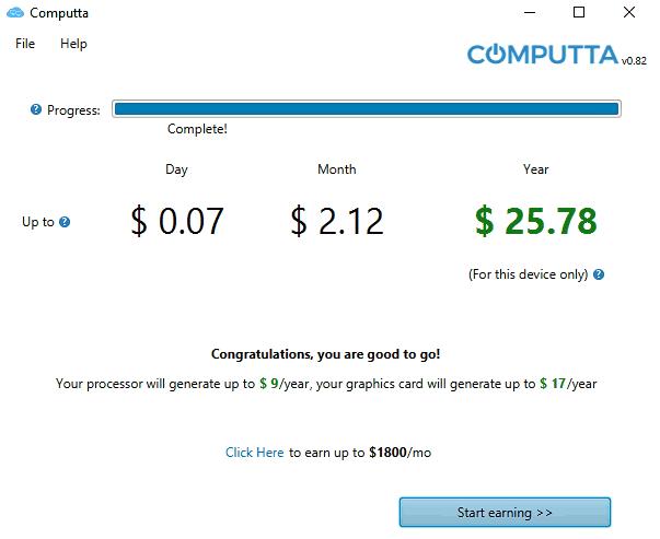 Computta Benchmark in Progress