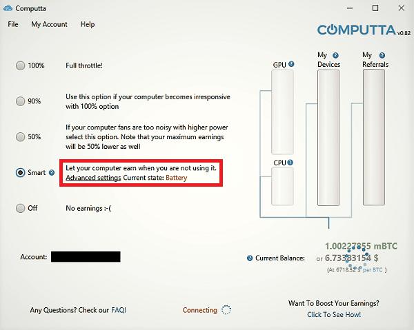 Computta Smart Miner Control Panel