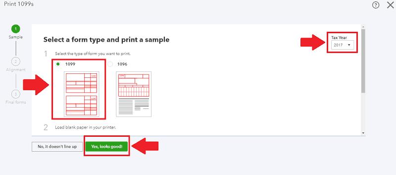 QBO 1099 Printing