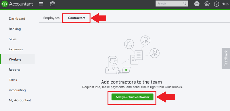 QBO Add First Contractor