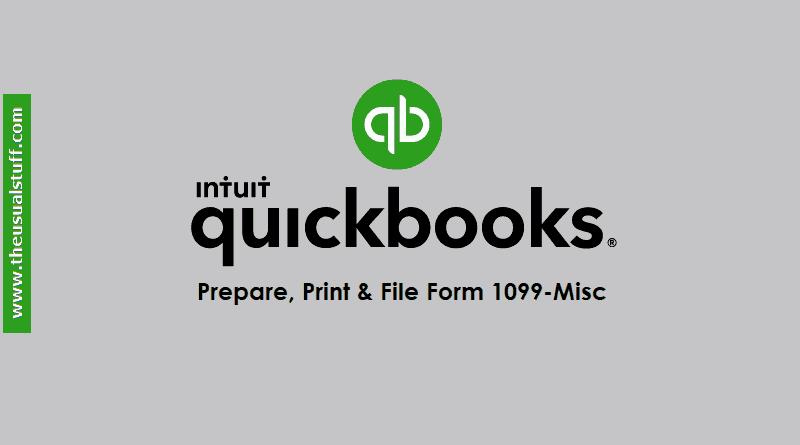 QuickBooks Online 1099 Form