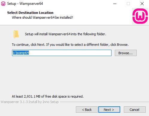 WAMP Root Installation Folder