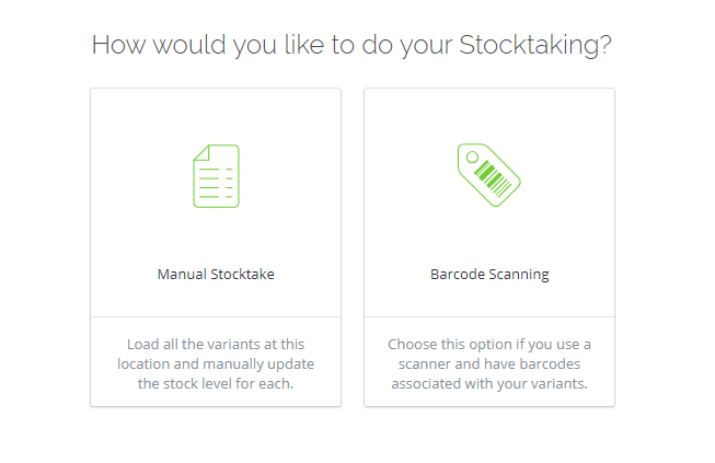TradeGecko Manual Stocktake Barcode Scanning