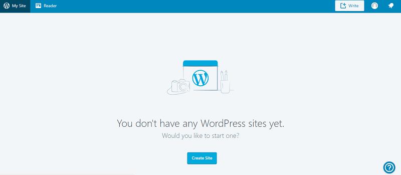 Wordpress .blog subdomain - Create New Site